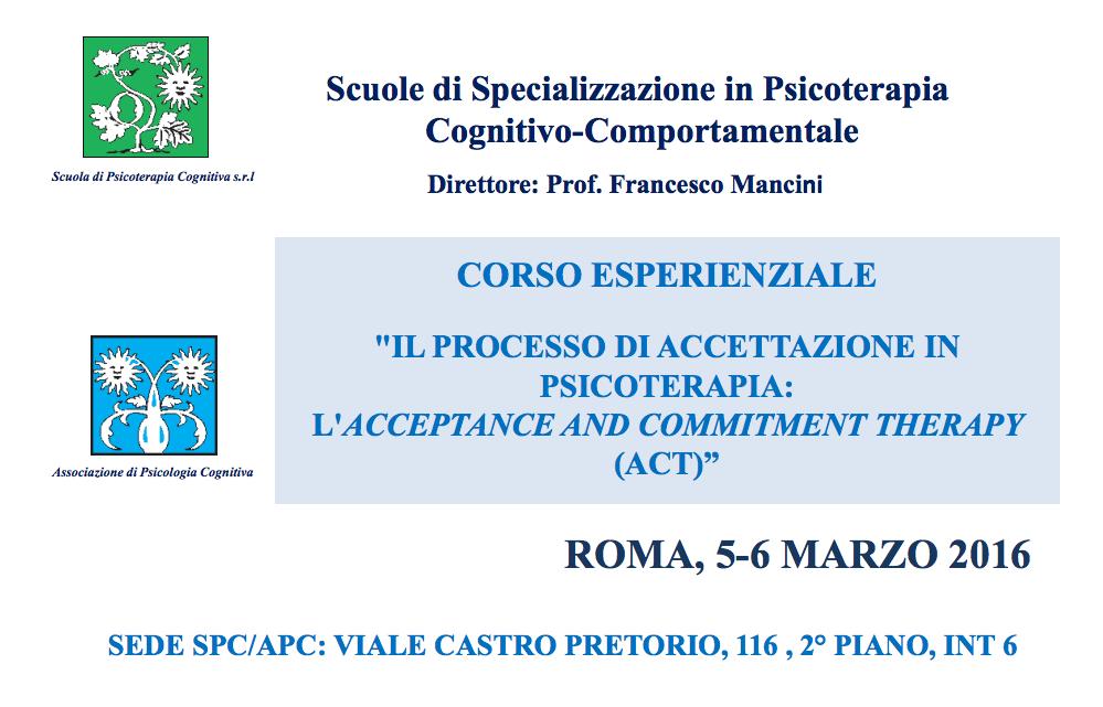 ACT Roma, 5 e 6 Marzo 2016